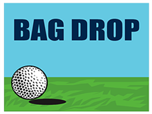 Picture of Golf Tournament Bag Drop Yard Sign (GTBYS#002)