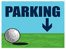 Picture of Golf Tournament Parking Down Yard Sign (GTPDYS#002)