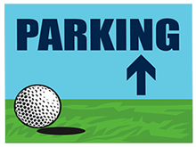 Picture of Golf Tournament Parking Up Yard Sign (GTPUYS#002)