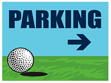 Picture of Golf Tournament Parking Right Yard Sign (GTPRYS#002)