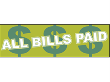 Picture of All Bills Paid Banner (ABPB#001)