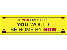 Picture of If You Lived Here Banner (IYLHB#001)