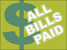 Picture of All Bills Paid Yard Sign (ABPYS#002)