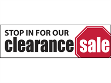 Picture of Clearance Sale Banner (CS2B#001)