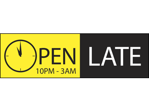 Picture of Open Late Banner (OLHB#001)