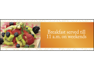 Picture of Breakfast Served Banner (BST2B#001)