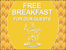 Picture of Free Breakfast Yard Sign (FBYS#002)