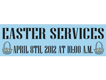 Picture of Easter Services Banner (ESB#001)