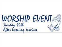 Picture of Worship Event Banner (WEB#001)