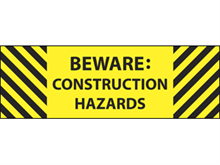 Picture of Beware Construction Label (BC2L#003)