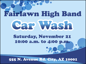 Picture of Car Wash Yard Sign (CWYS#002)