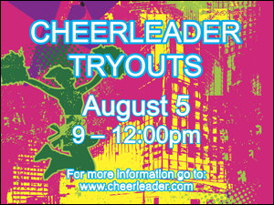 Picture of Cheerleader Tryouts Yard Sign (CTYS#002)