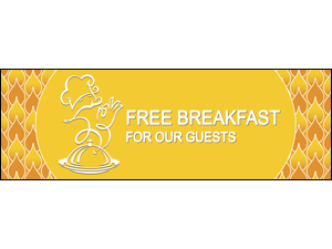Picture of Free Breakfast Banner (FBB#001)