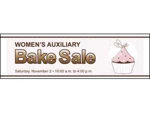 Picture of Bake Sale  Banner (BS2B#001)