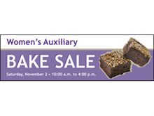 Picture of Bake Sale  Banner (BS3B#001)