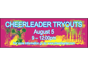 Picture of Cheerleader Tryouts Banner (CTB#001)