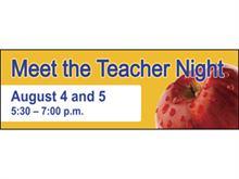 Picture of  Meet The Teacher Banner (MTTB#001)