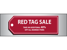 Picture of Red Tag Sale Banner (RTSB#001)