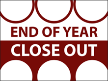 Picture of End of Year Close Out  Yard Sign (EOYCYS#002)