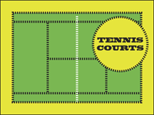 Picture of Tennis Courts Yard Sign (TCYS#002)