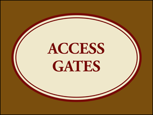Picture of Access Gates Yard Sign (AGYS#002)