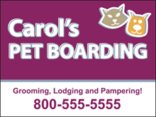 Picture of  Pet Boarding Yard Sign (PB2S#002)