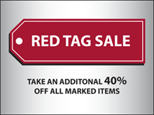 Picture of Red Tag Sale Yard Sign (RTSYS#002)