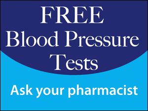 Picture of Free Blood Pressure Test Yard Sign (FBPTYS#002)