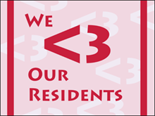 Picture of We Love Our Residents Yard Sign (WLORYS#002)