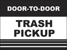 Picture of Trash Pickup Yard Sign (TPYS#002)