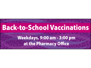 Picture of Back To School Vaccinations Banner (BTSVB#001)