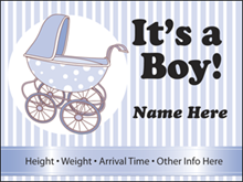 Picture of It's A Boy Yard Sign (BABYS#002)