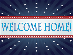 Picture of Welcome Home Yard Sign (WHYS#002)