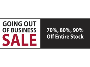 Picture of Going Out of Business Banner (GOBS2B#001)