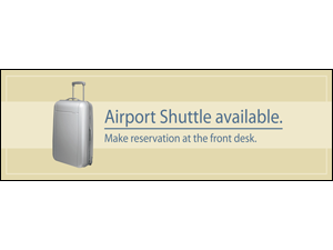 Picture of Airport Shuttle Banner (AS2B#001)