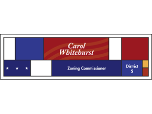 Picture of Zoning Commissioner Banner (ZC3B#001)