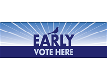 Picture of Early Vote Here Banner (EVHB#001)
