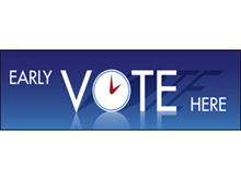 Picture of Early Vote Here Banner (EVH2B#001)