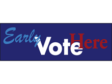 Picture of Early Vote Here Banner (EVH3B#001)