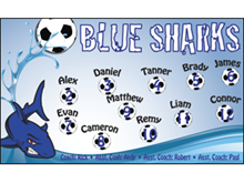 Picture of Blue Sharks Soccer  Banner (BSSB#001)