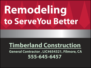 Picture of Remodeling Yard Sign (R2YS#002)