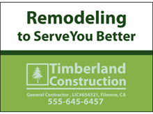 Picture of Remodeling Yard Sign (R3YS#002)