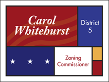 Picture of Zoning Commissioner Yard Sign (ZC3YS#002)