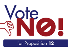 Picture of  Vote No Yard Sign (VN3YS#002)