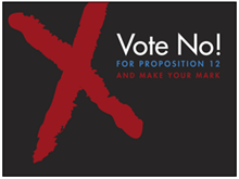 Picture of Vote No Yard Sign (VN4YS#002)