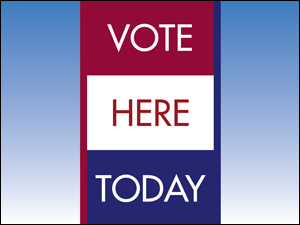 Picture of Vote Here Yard Sign (VH3YS#002)