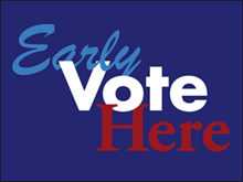 Picture of Vote Here Yard Sign (VH4YS#002)