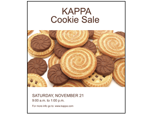 Picture of Cookie Sale Poster (CS2P#011)