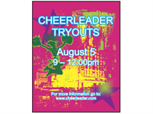 Picture of Cheerleader Tryouts Poster (CTOP#011)