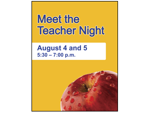 Picture of Meet The Teacher Night Poster (MTTNP#011)